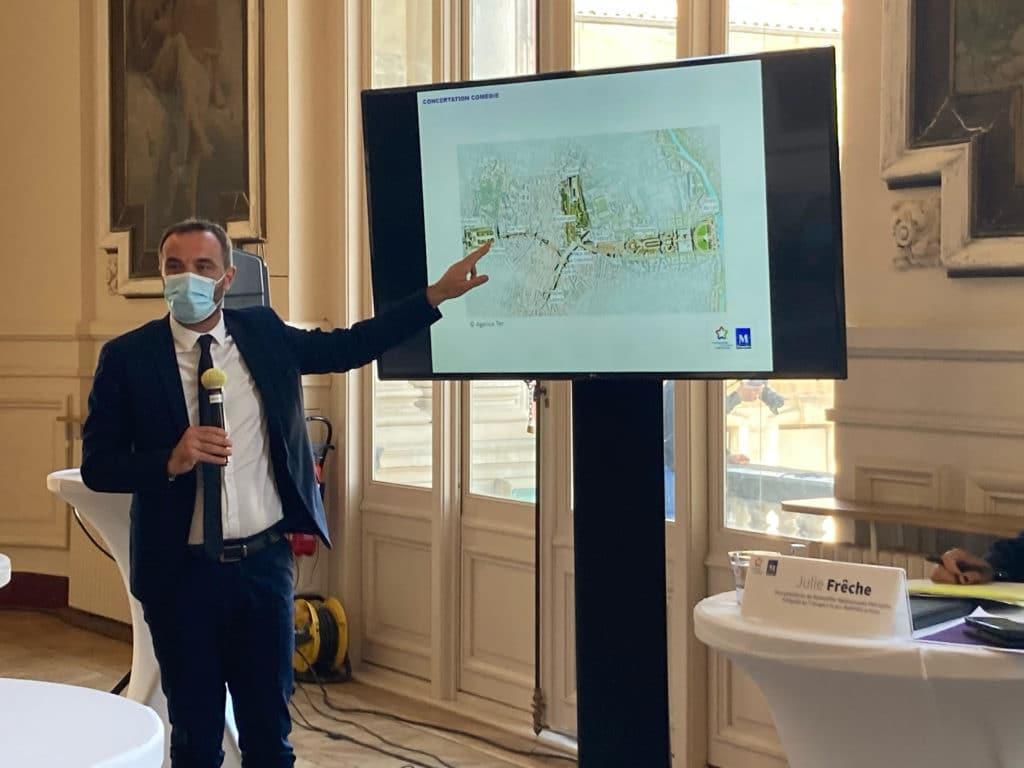 M. Delafosse présente le projet Comédie. © Thibault Loucheux / Snobinart