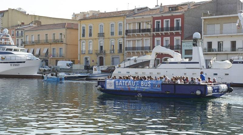 Bateau-bus navette entre Sète et Mèze