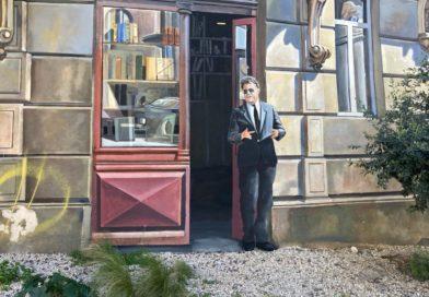 Georges Frêche sur le trompe-l'oeil de l'Observatoire à Montpellier