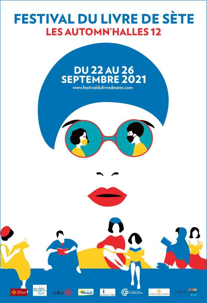 Affiche Les Automn'Halles Festival du livre de Sète 2021