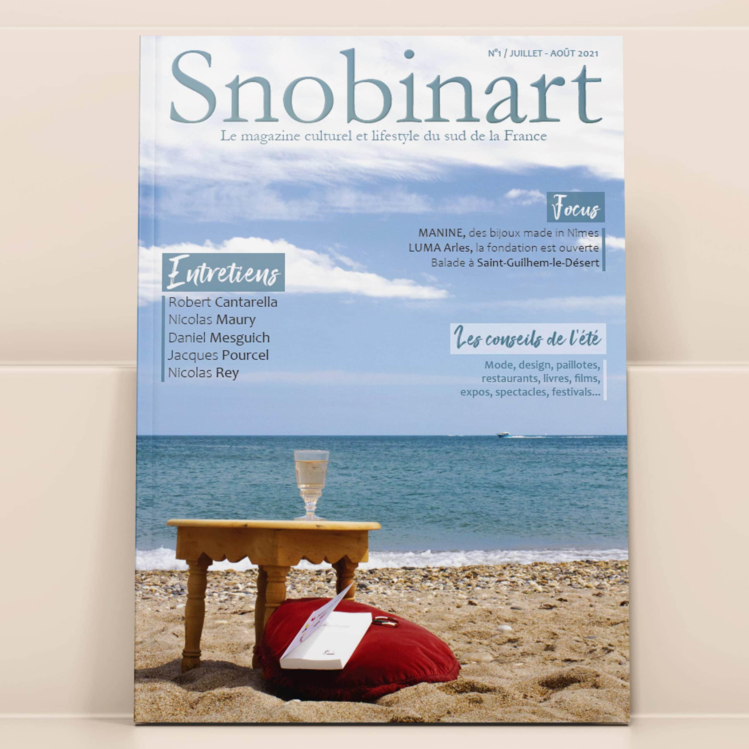 Couverture Snobinart Magazine Numéro 1 Juillet Août 2021