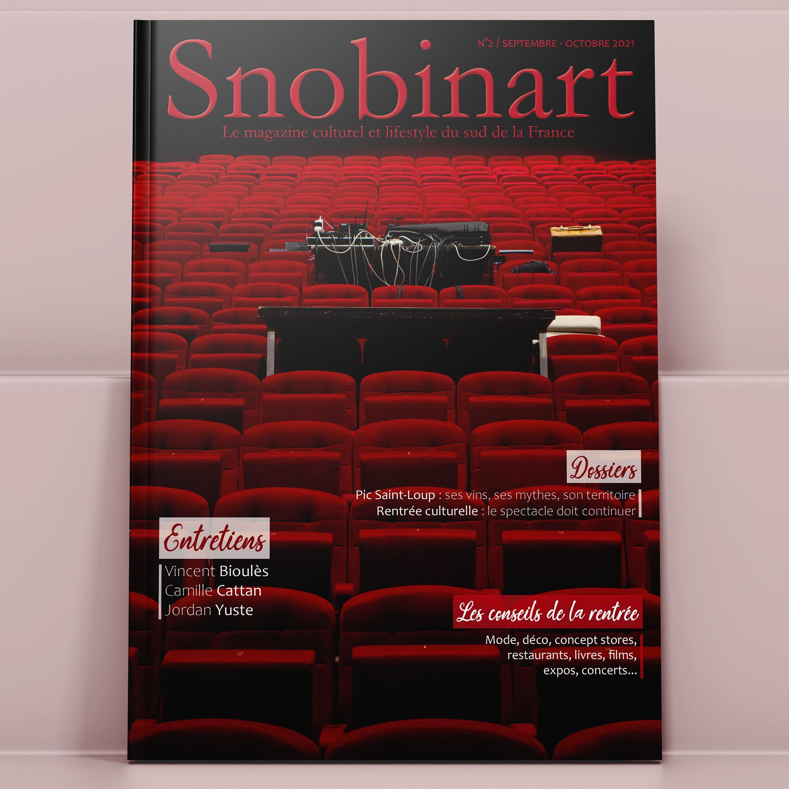Couverture Snobinart Magazine Numéro 2 Septembre Octobre 2021