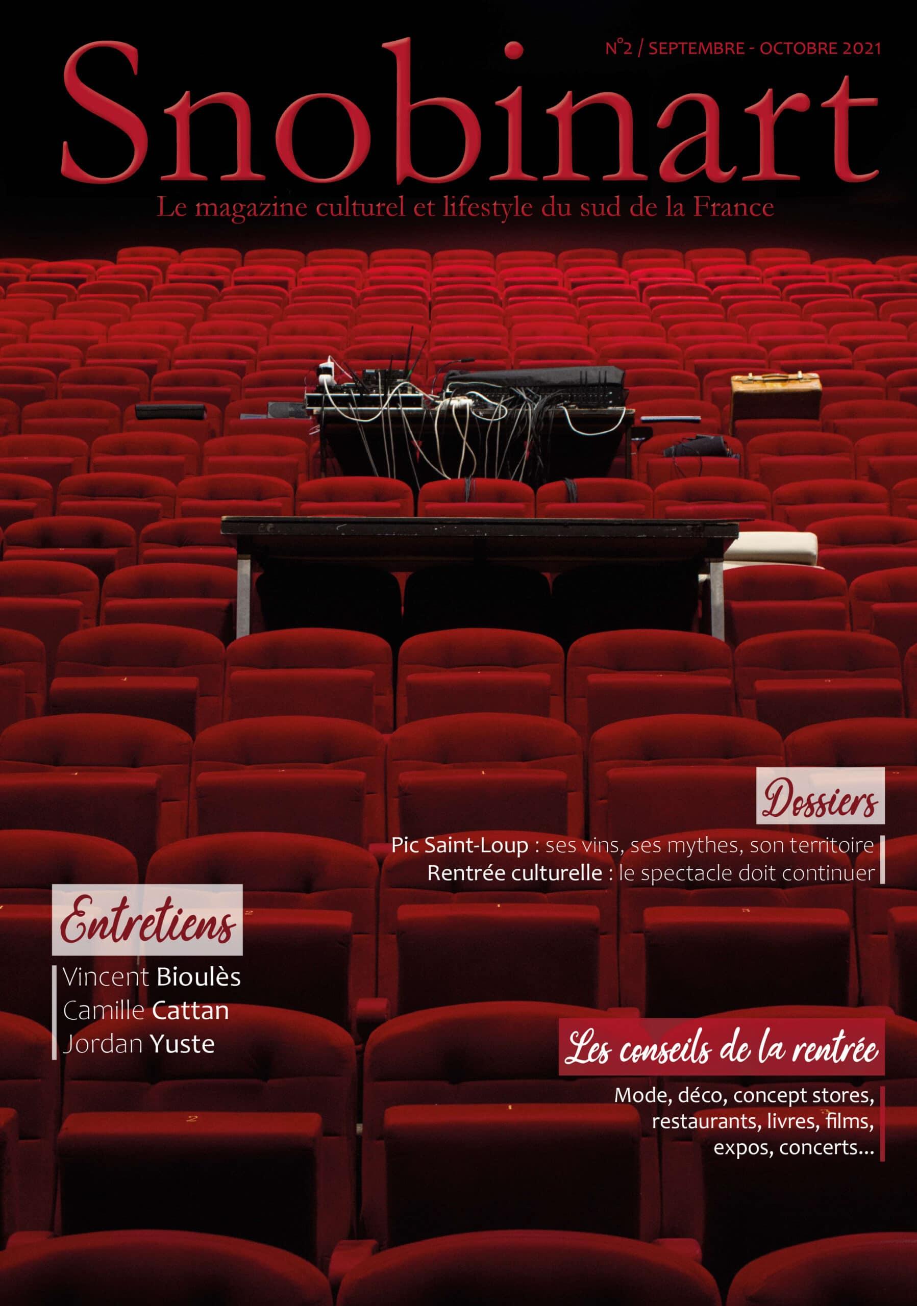 Couverture Magazine Snobinart N°2 Septembre Octobre 2021